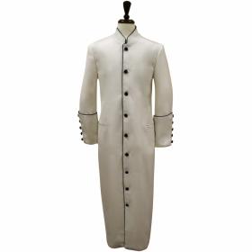 5337040b4db0 157 M. Men's Classic Pastor/Clergy Robe - Ivory/Black