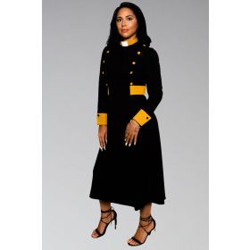 Suit Avenue Clergy Dress with Tab Collar for ministry