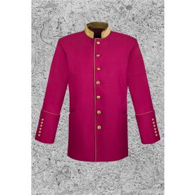 Men's Clergy Frock Coat Burgundy