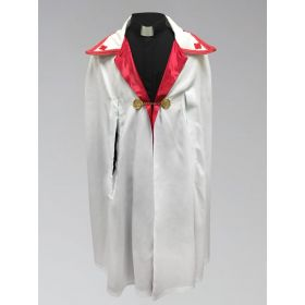 Clergy Ministerial Cape White with Red