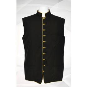 Men's Classic Clergy Vest - Black/Gold