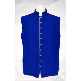 Men's Classic Clergy Vest - Royal/Gold