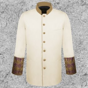 Men's Cream Clergy Jacket