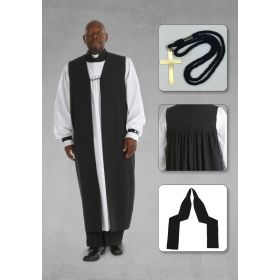 Elder and Pastor's Clergy Chimere with Rochet in Black