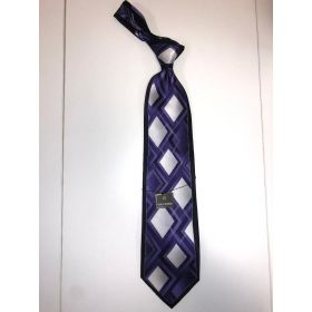 **Stacy Adams Premium Handmade Silk Neck Tie - Purple Diamond