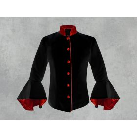 Black and Red Clergy Jacket for Women