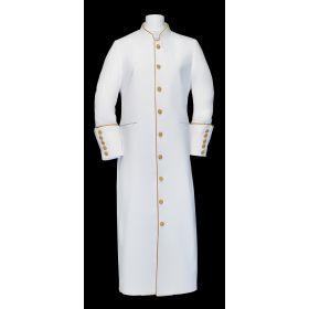 163 W. Ladies Clergy Pastor Robe - White Gold Trim 3adb22ea2