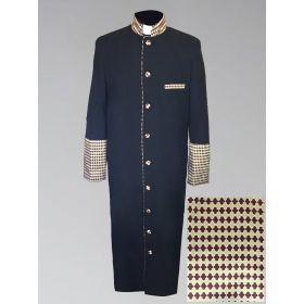 Men's Holiday Christmas Print Clergy Robe