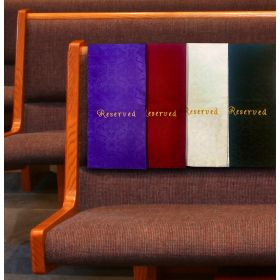 *Pack Bundle of 20* Pew/Seat Covers with Embroidery