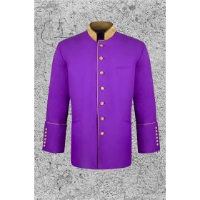 Men's Purple and Gold Clergy Frock Coat