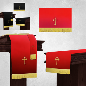 Reversible Church Parament Sets in Black & Red