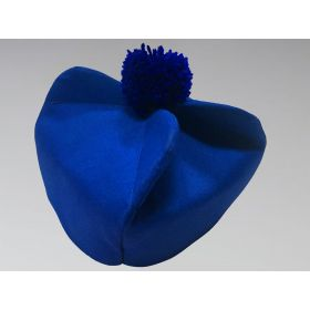 Clergy Biretta Hat Royal Blue