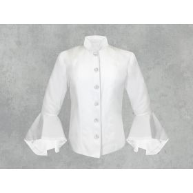 White on White Clergy Jacket for Women