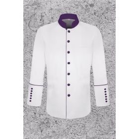Men's White Frock Clergy Coat