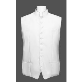 Men's Classic Clergy Vest - White