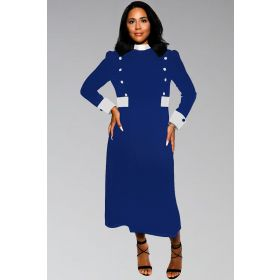 Women's Clergy Collar Dress in Black & White