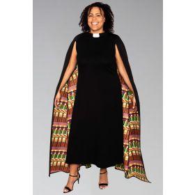 Modern Priest Clergy Dress with Kwangali Cape