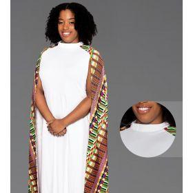 Modern Clergy Dress White with Kwangali Cape