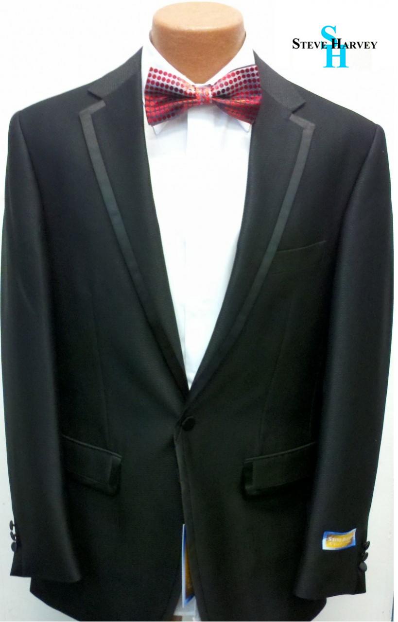 Steve Harvey Premium 1-Button Tuxedo - Black