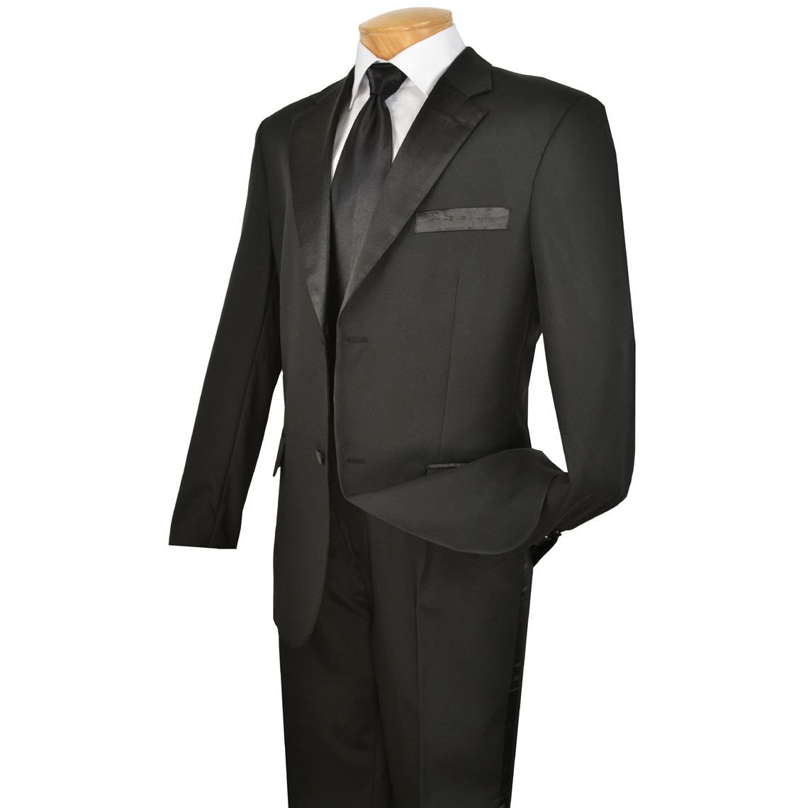 Men's 2-Button Tuxedo Black
