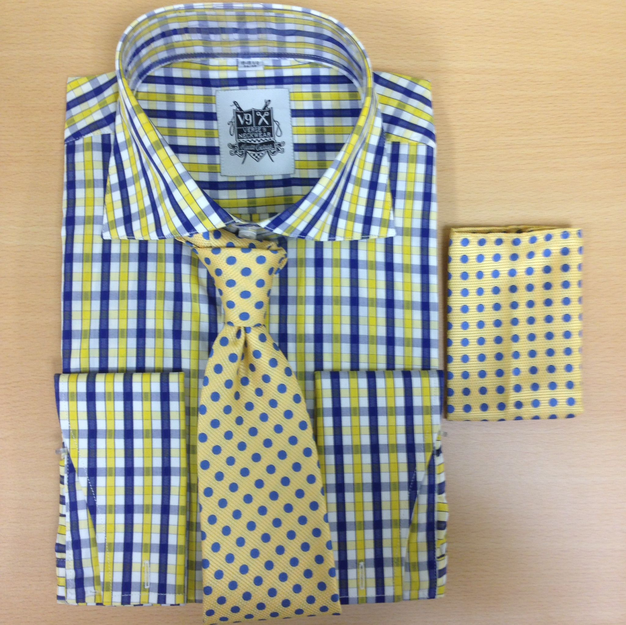 With Men's Dress Shirts Yellow Tie