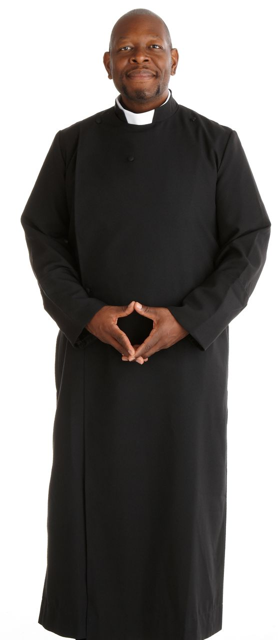 195 M. Men's Double-Breast Anglican Black Cassock