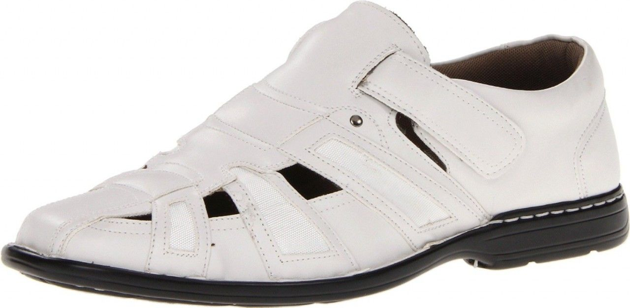 Men's Stacy Adams Banyan Casual Dress Sandal - White