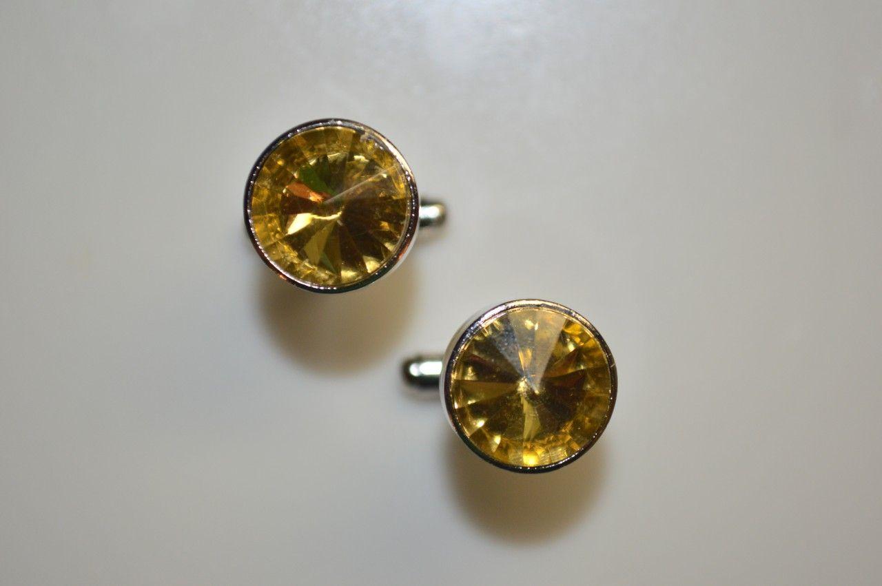 *2 Pc. Gracious Stone Cufflinks - Gold