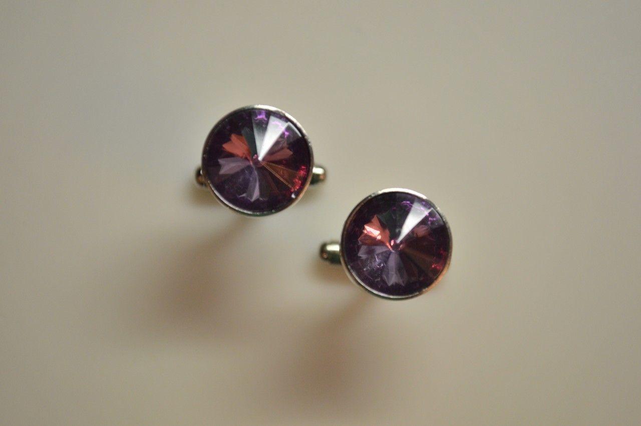 *2 Pc. Gracious Stone Cufflinks - Lilac