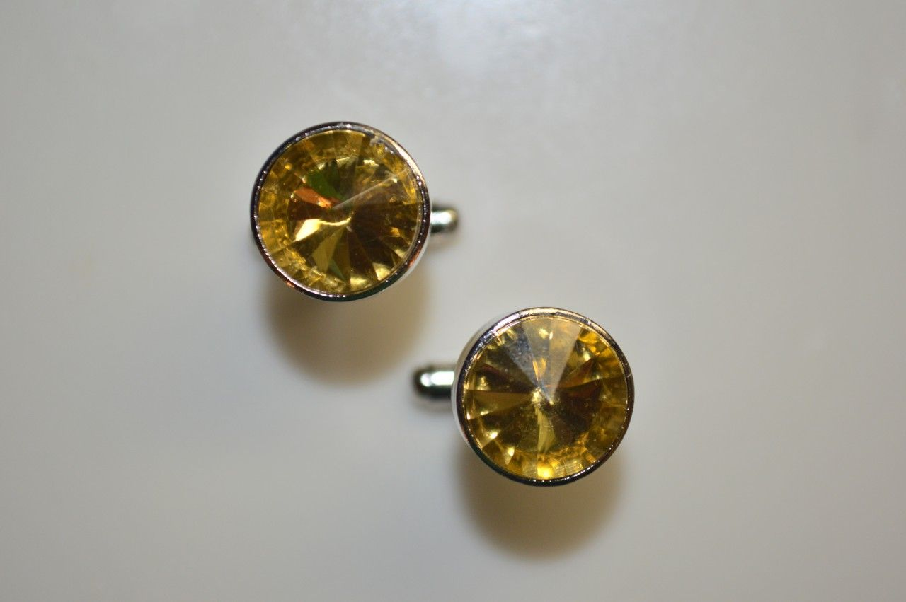 *2 Pc. Gracious Stone Cufflinks - Gold