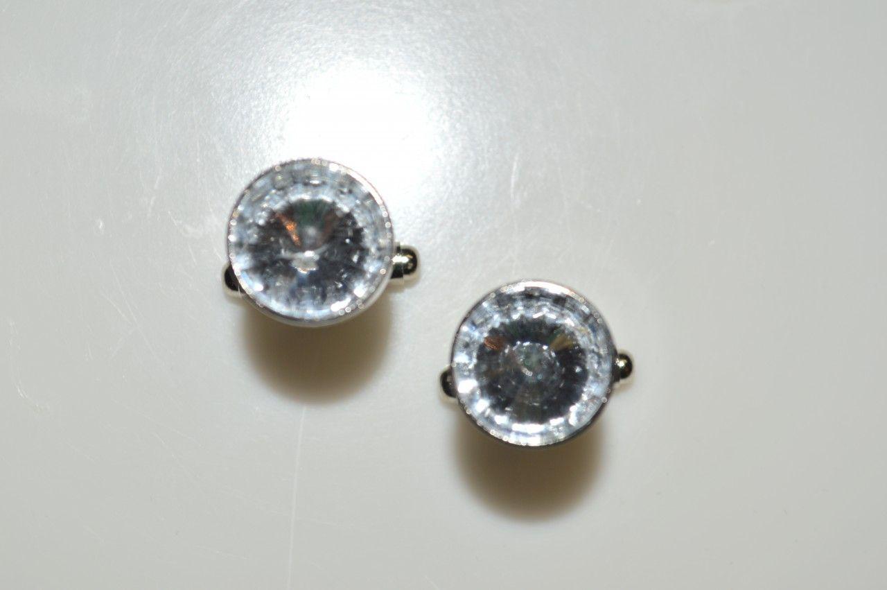 *2 Pc. Gracious Stone Cufflinks - White