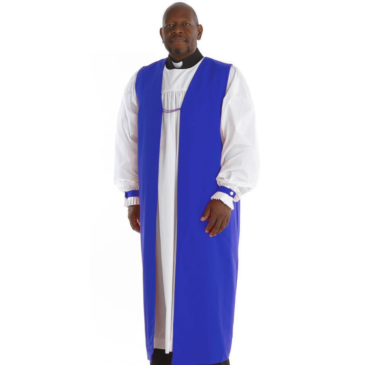 Traditional Clergy Chimere with Fluting - Royal Blue