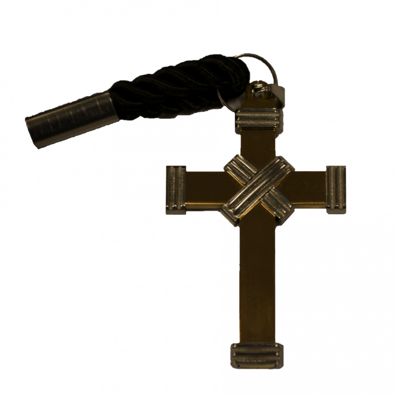 Two-Tone Gold & Silver X-Design Clergy Cross Pendant