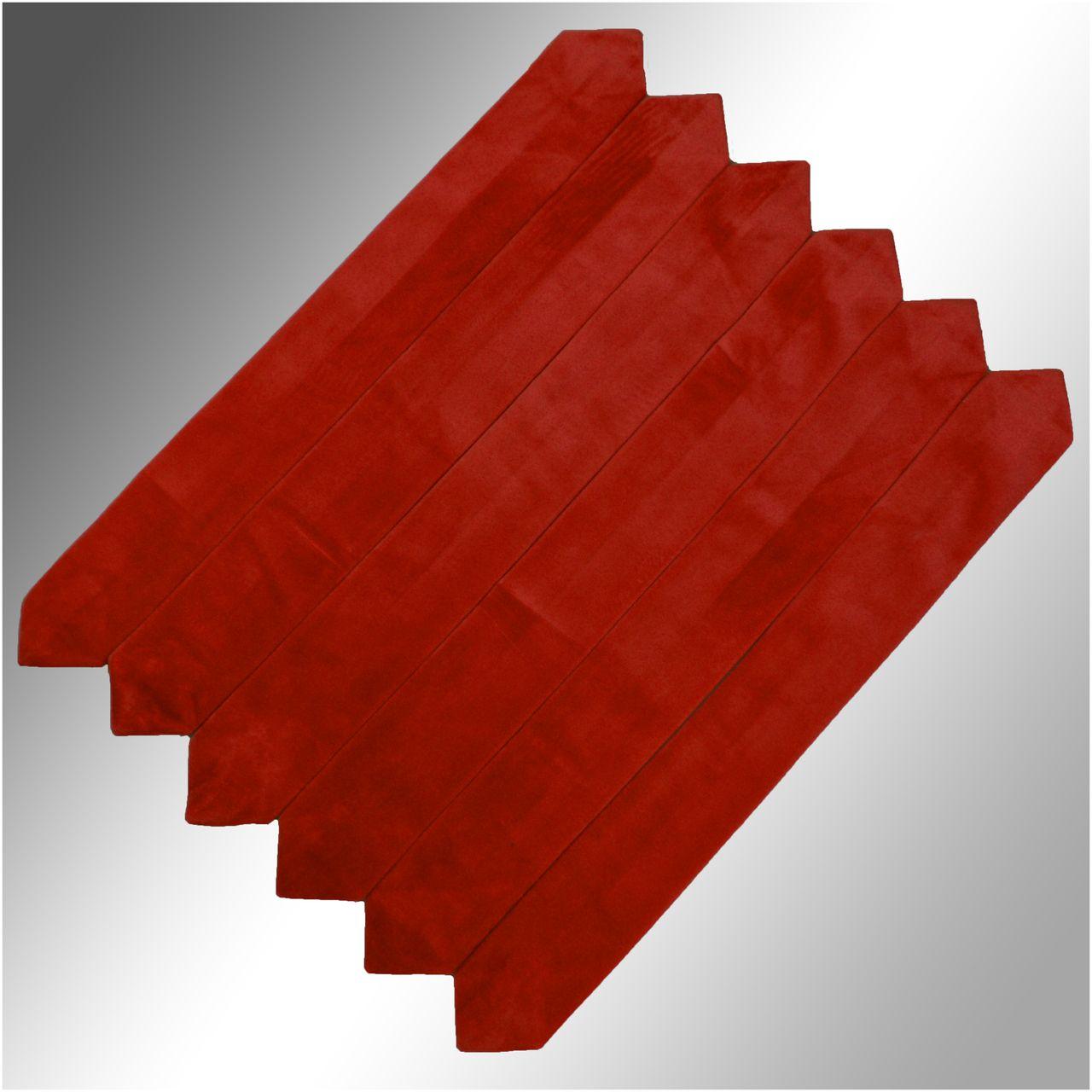 Velvet Clergy Doctor Bars (Set of 6) - Red