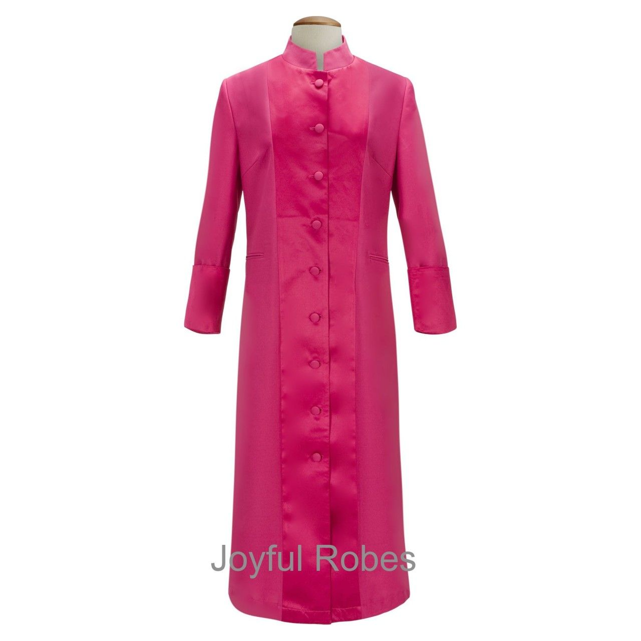 133 W. Women's Pastor/Clergy Robe Fuchsia With Majestic Satin