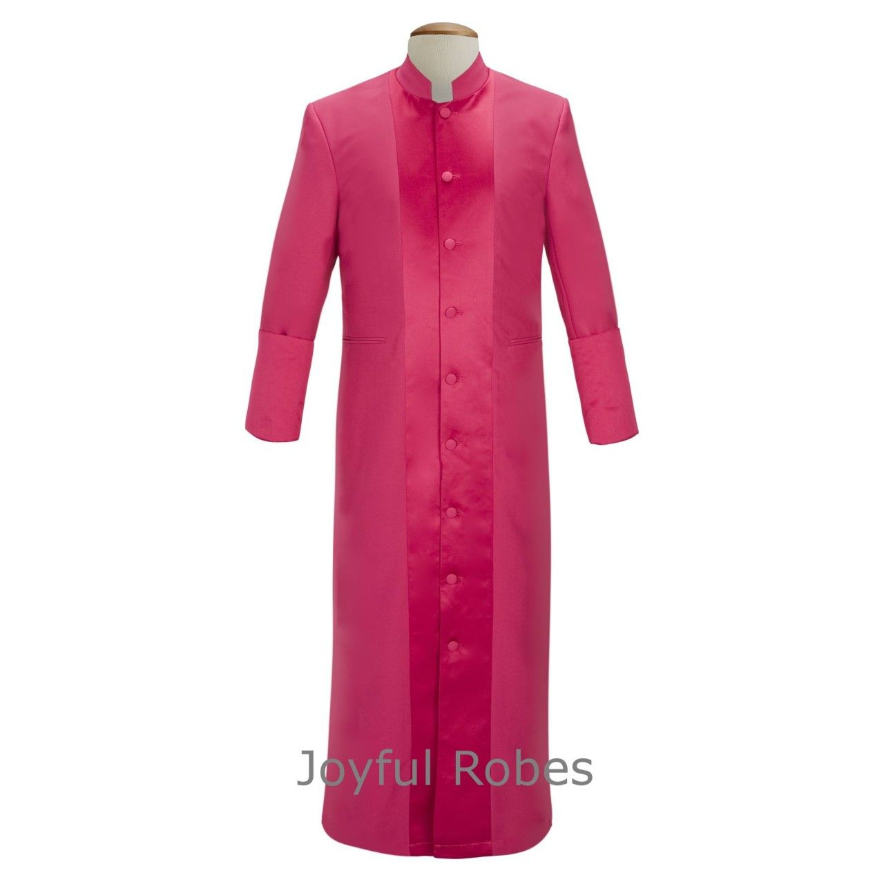 133 M. Men's Pastor/Clergy Robe Fuchsia With Majestic Satin