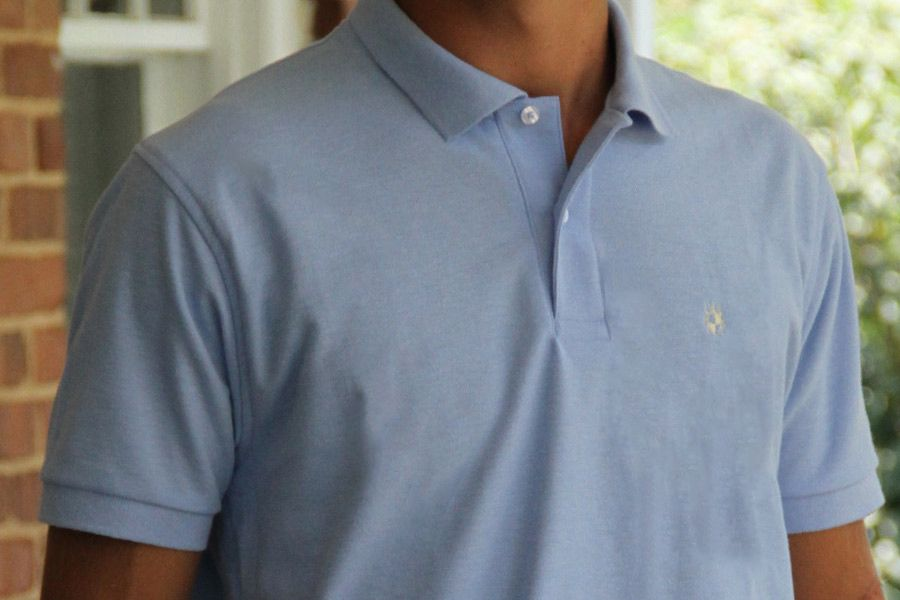 Men's Made In The South NC Cotton Polo Shirt - Carolina Blue