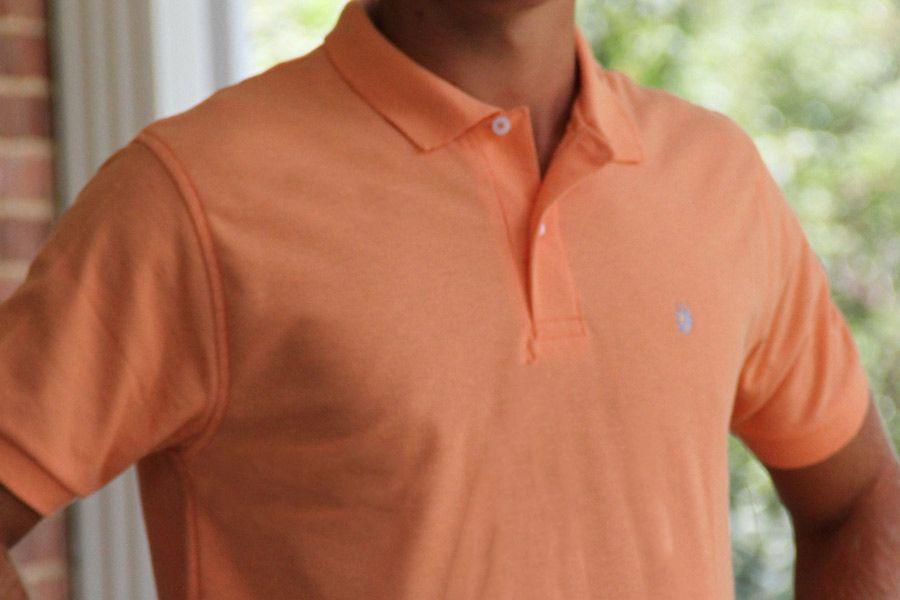 Men's Made In The South NC Cotton Polo Shirt - Melon