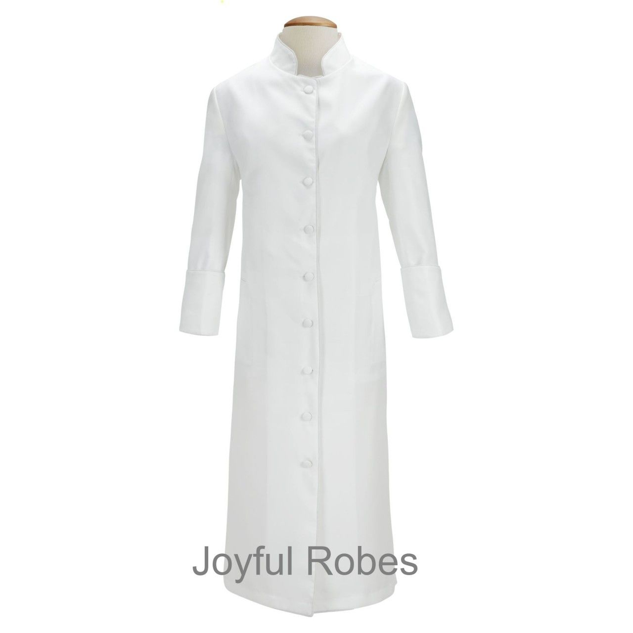102 W. Women's Clergy/Pastor Robe - Solid White