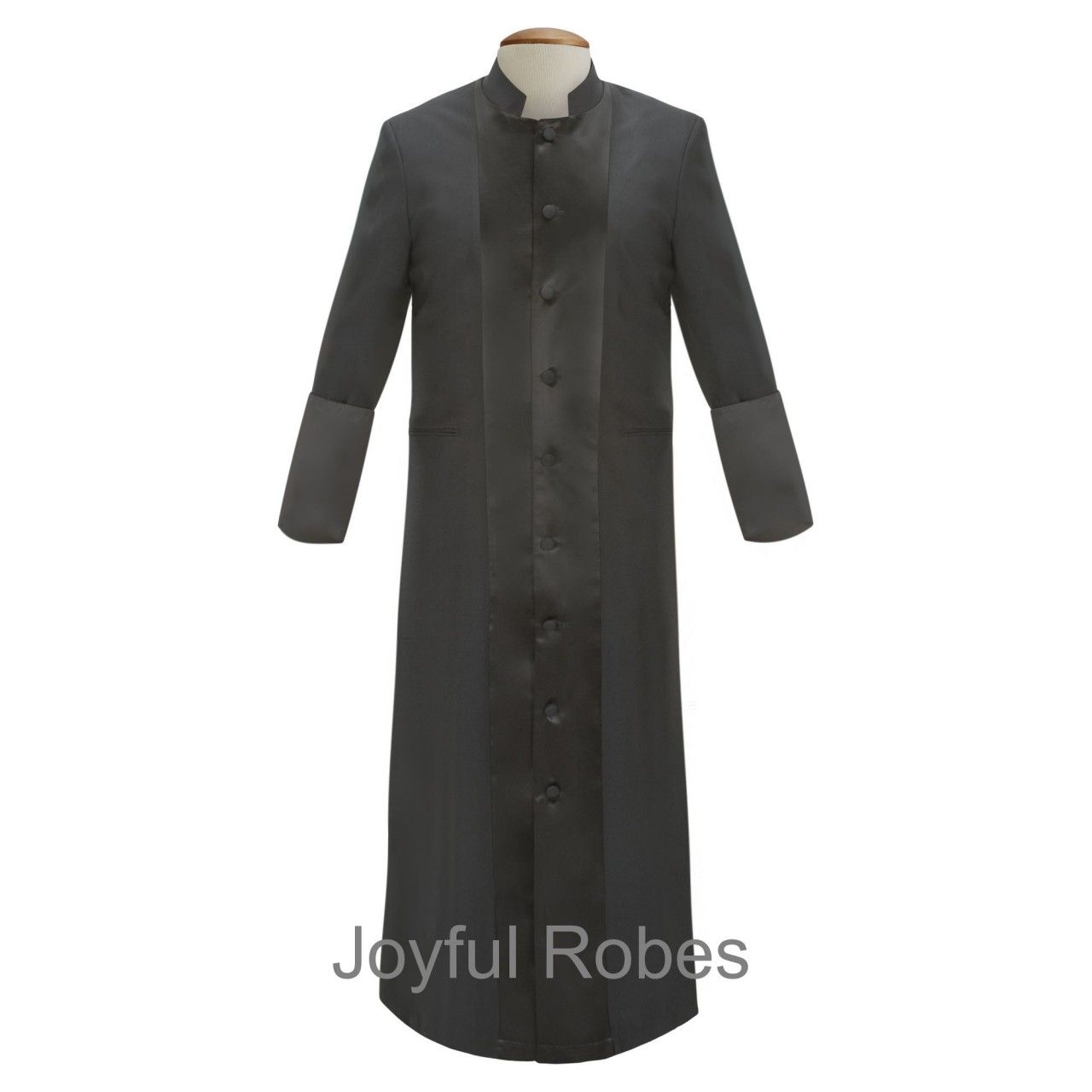 8133916f0c Men s Black Black Clergy Robe   Clergy Cassock - Clergy Attire ...