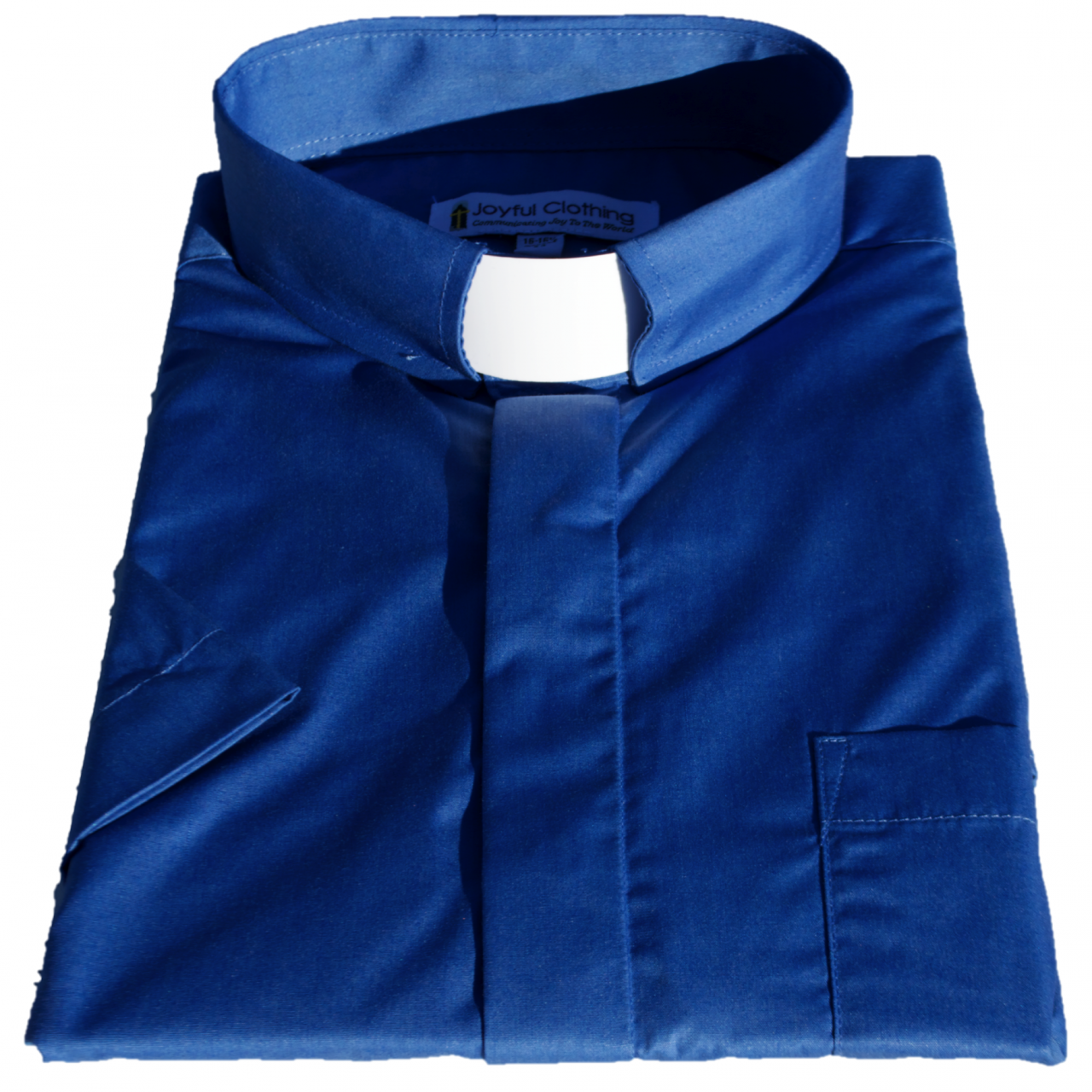 171. Men's Short-Sleeve Tab-Collar Clergy Shirt - Royal Blue
