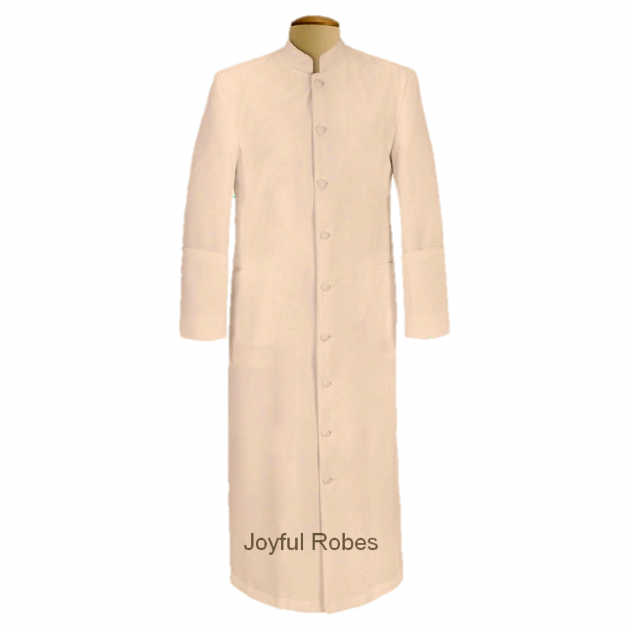 103 M. Men's Pastor/Clergy Robe Solid Creme