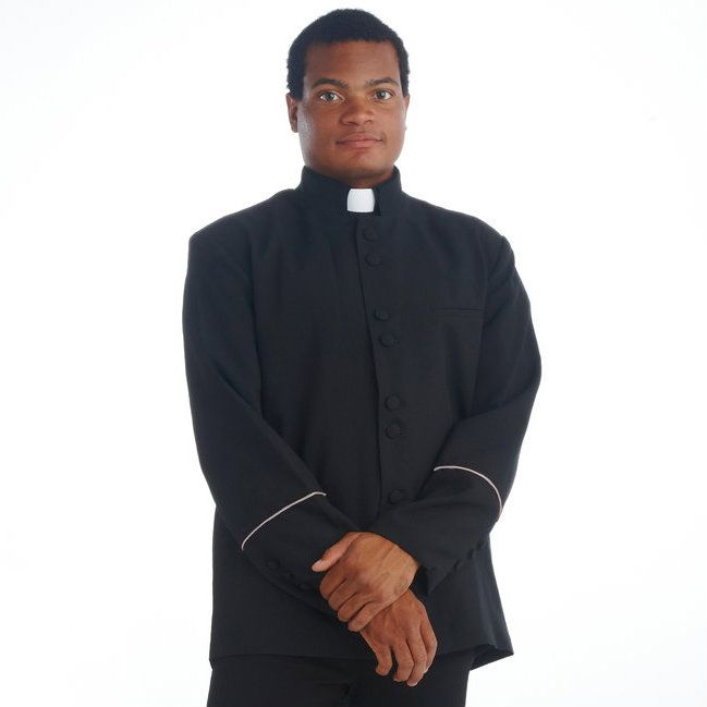 Clergy Jacket Black and Grey