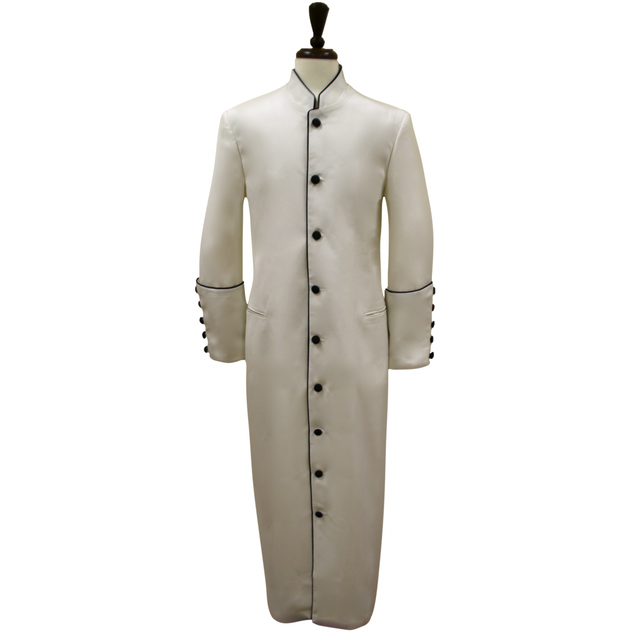 157 M. Men's Classic Pastor/Clergy Robe - Ivory/Black