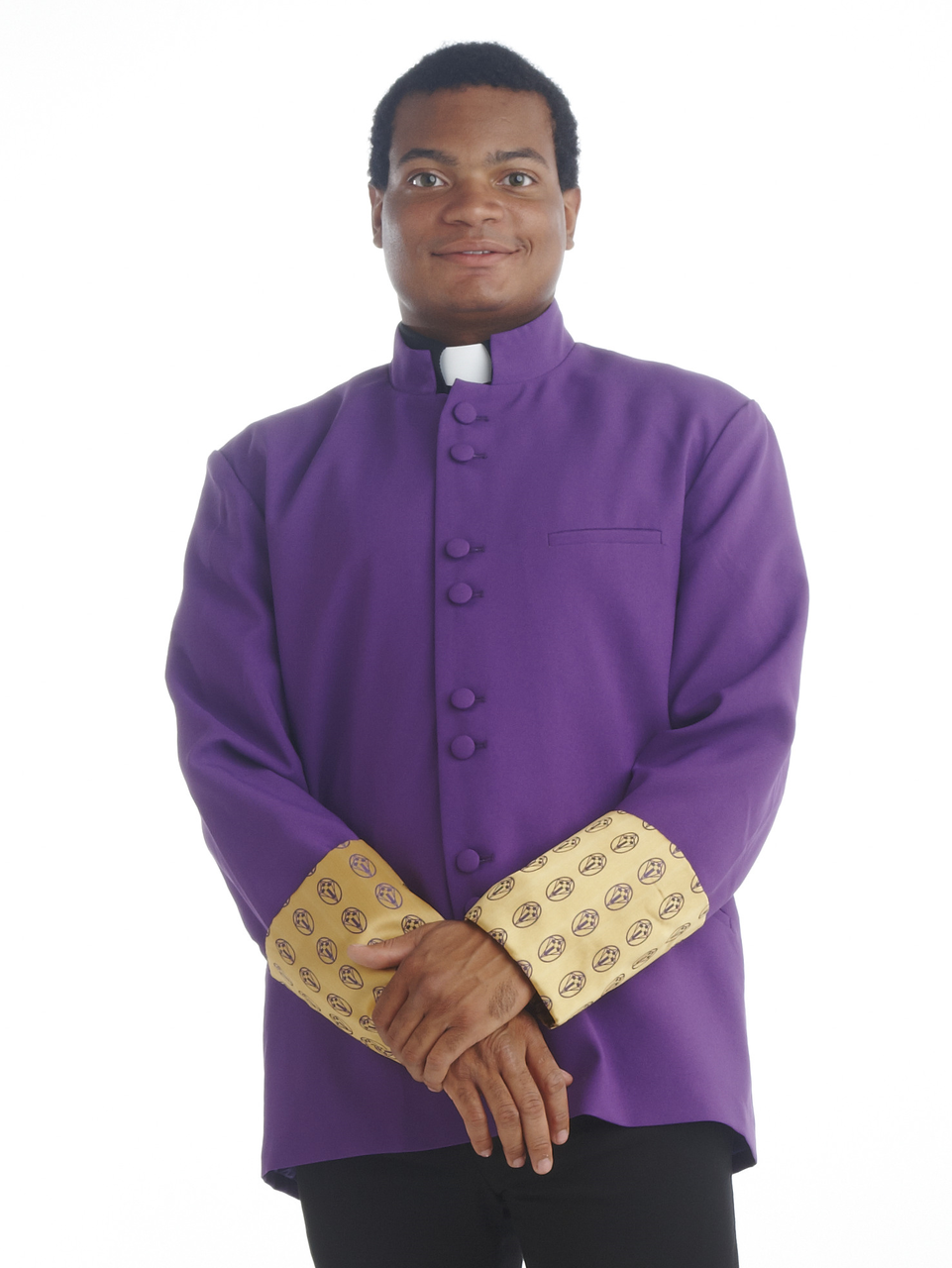 Men's Purple and Gold Frock Coat