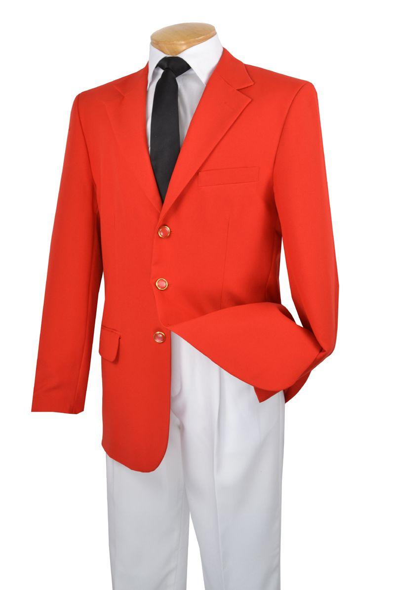 Men's Italian-Style Sportcoat Blazer - Red