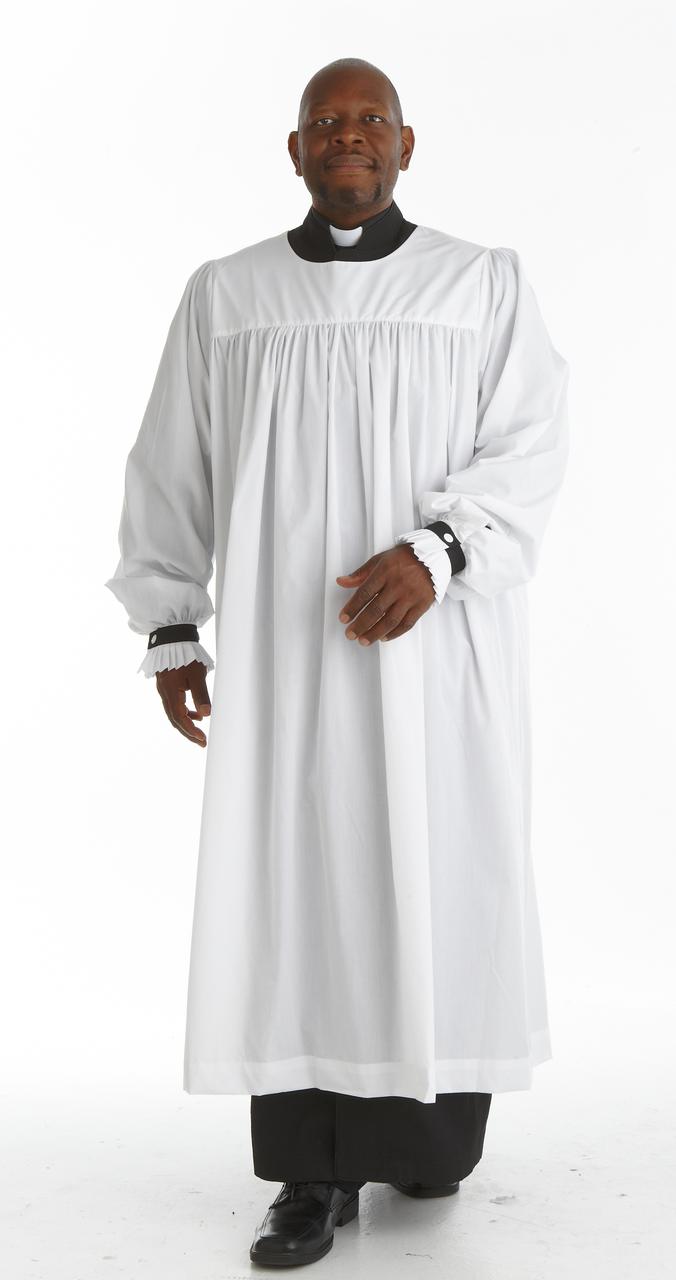 Anglican Premium Tailored Clergy Rochet - White