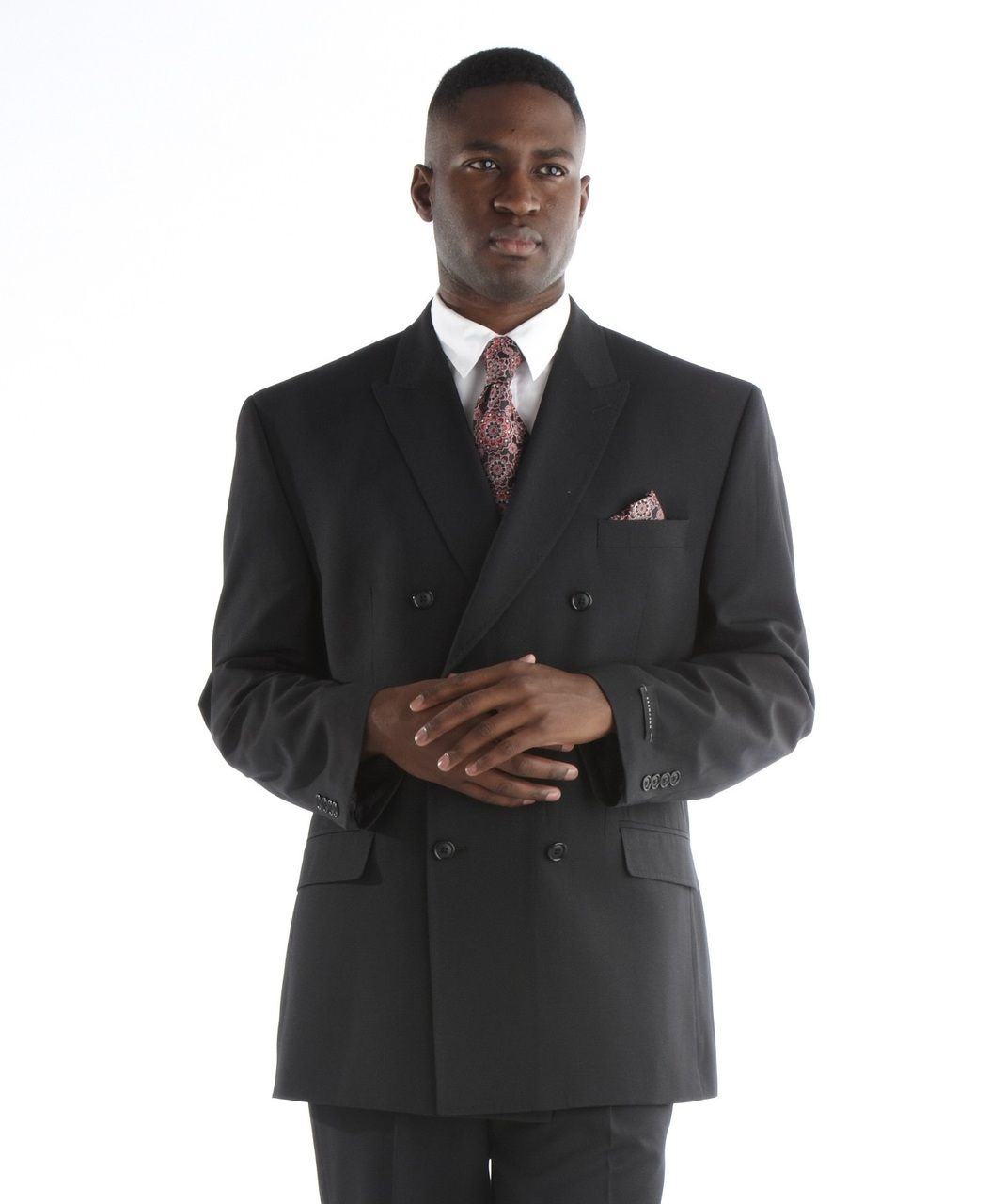 Men's Sean John Double-Breast Suit - Black