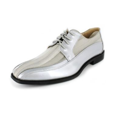 Stacy Adams Royalty Satin Dress Shoes Silver