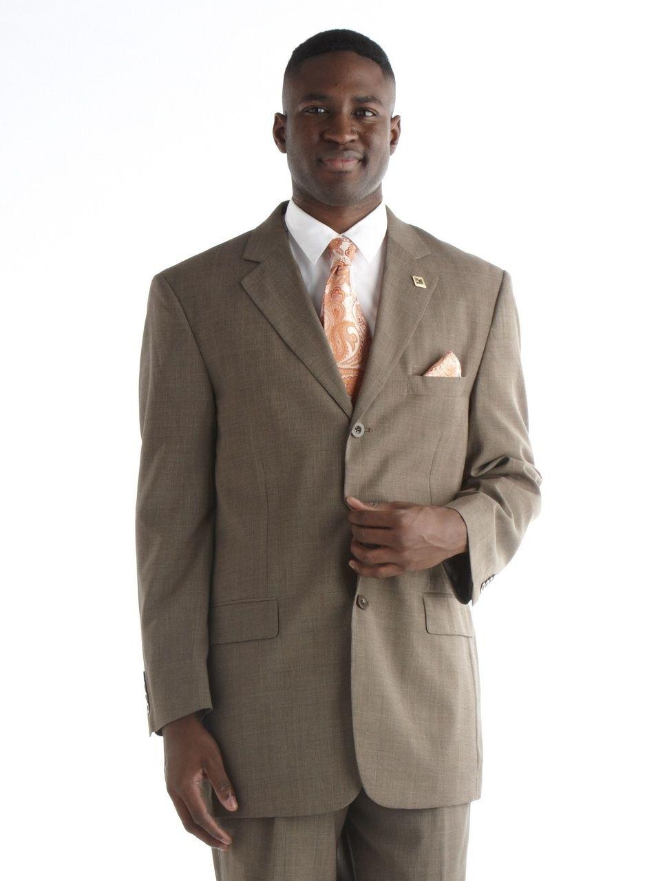 Stacy Adams Plaid Suit - Brown
